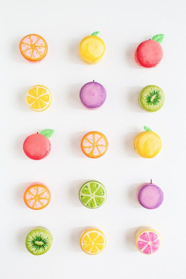 DIY fruit macarons   sugarandcloth.com