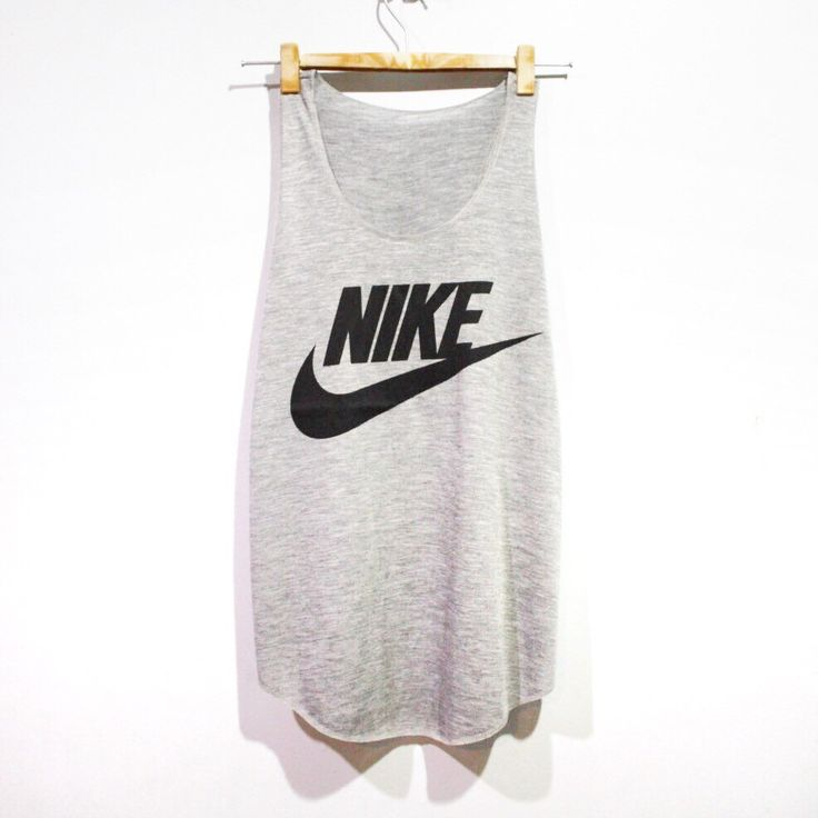 Nike Tank Top Minimal Fitness Sport Clothing Grey Workout Shirt Beach Summer T-Shirt Woman BUY 2 GET 1 FREE by pingypearshop on Etsy https://www.etsy.com/listing/266456434/nike-tank-top-minimal-fitness-sport
