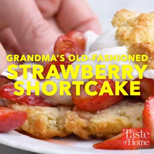 Grandma's Strawberry Shortcake Recipe