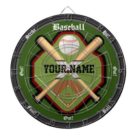 Personalized Baseball Field Dart Board - tap to personalize and get yours