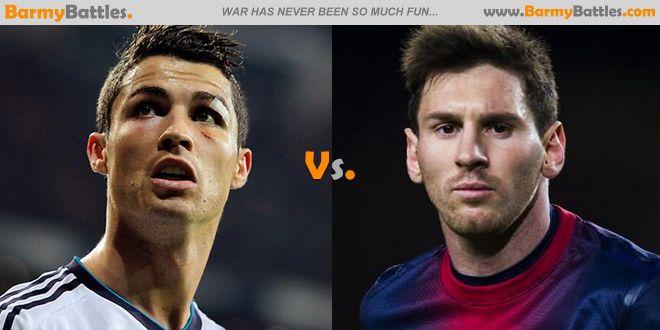 Cristiano Ronaldo Vs Lionel Messi  Which of this two are the best player? #soccer #football #cristianoronaldo #lionelmessi #barcelona #realmadrid CLICK HERE TO VOTE: http://www.barmybattles.com/2014/03/30/cristiano-ronaldo-vs-lionel-messi/