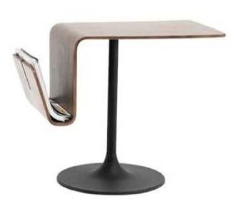 OCCA Side table with Magazine holder , walnut veneer