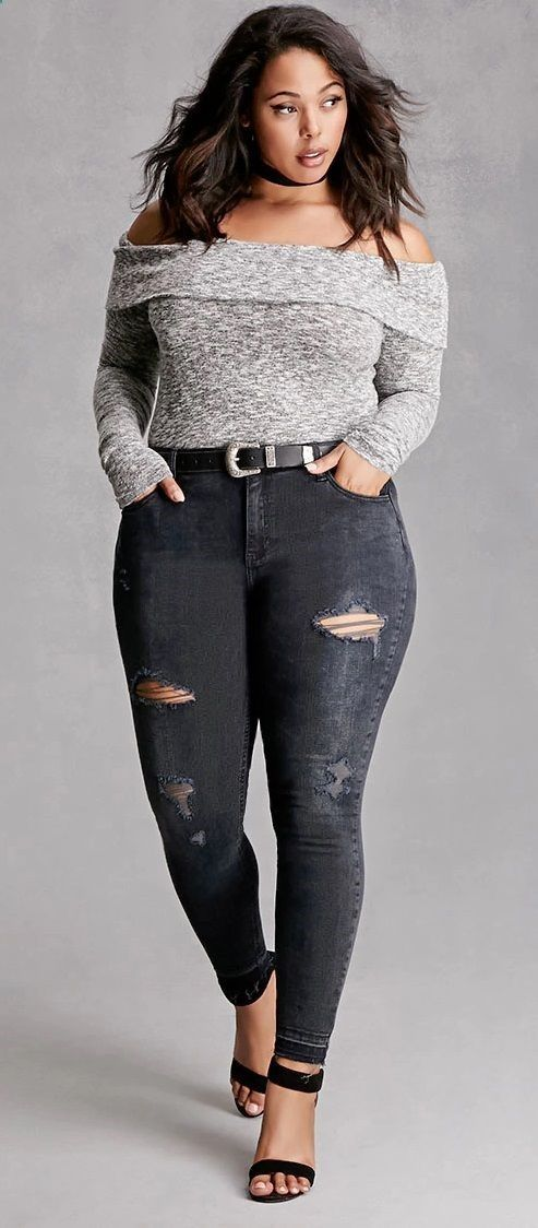 Shredded tears add trend-right edge to skinny jeans cut with a high waistband to enhance hourglass curves while smoothing the tummy. Whiskering and fading also age the dark-washed stretch denim. affiliate link