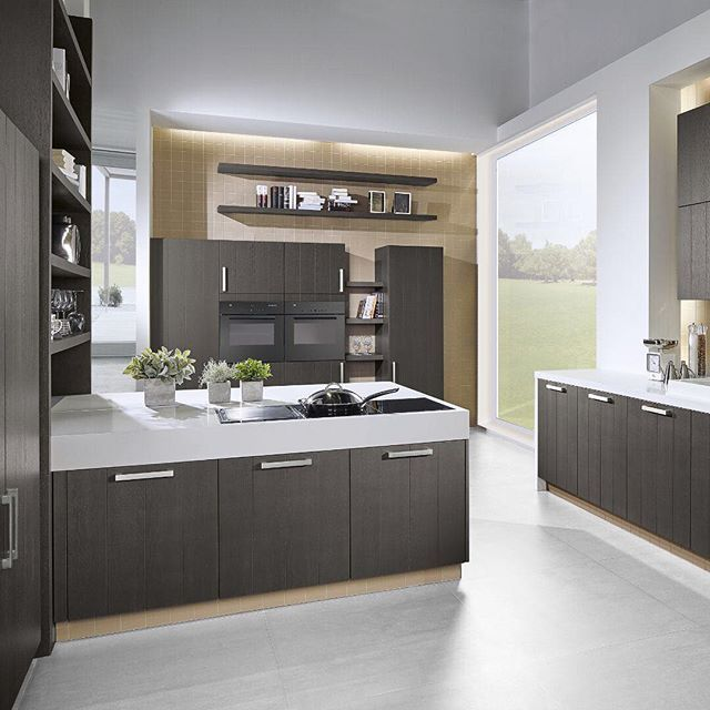 The Beautiful Basalt Grey Oak Door From Pronorm Official Is Spectacular Kitchenextension Germankitchens Fittedkit German Kitchen Design Oak Doors Grey Oak