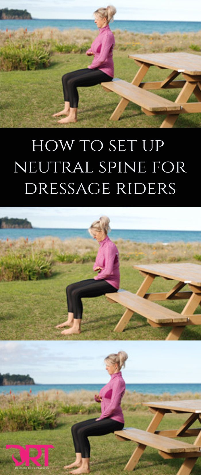 Understand what neutral spine is and how to achieve it off and on the horse for dressage