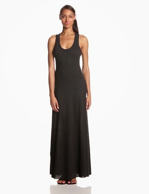 black maxi dress: black tank maxi dress