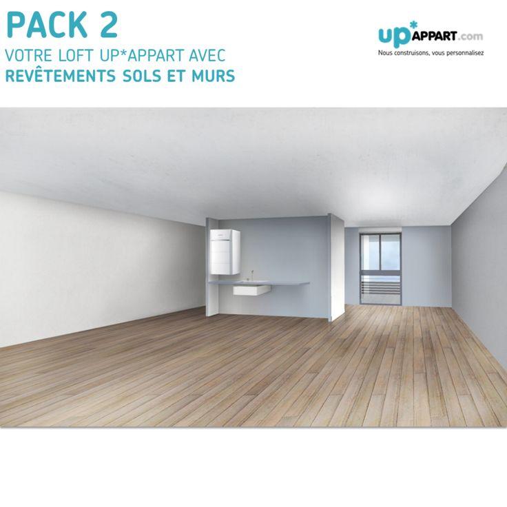 Pack 2 : Votre loft UP*APPART avec revêtements sols et murs