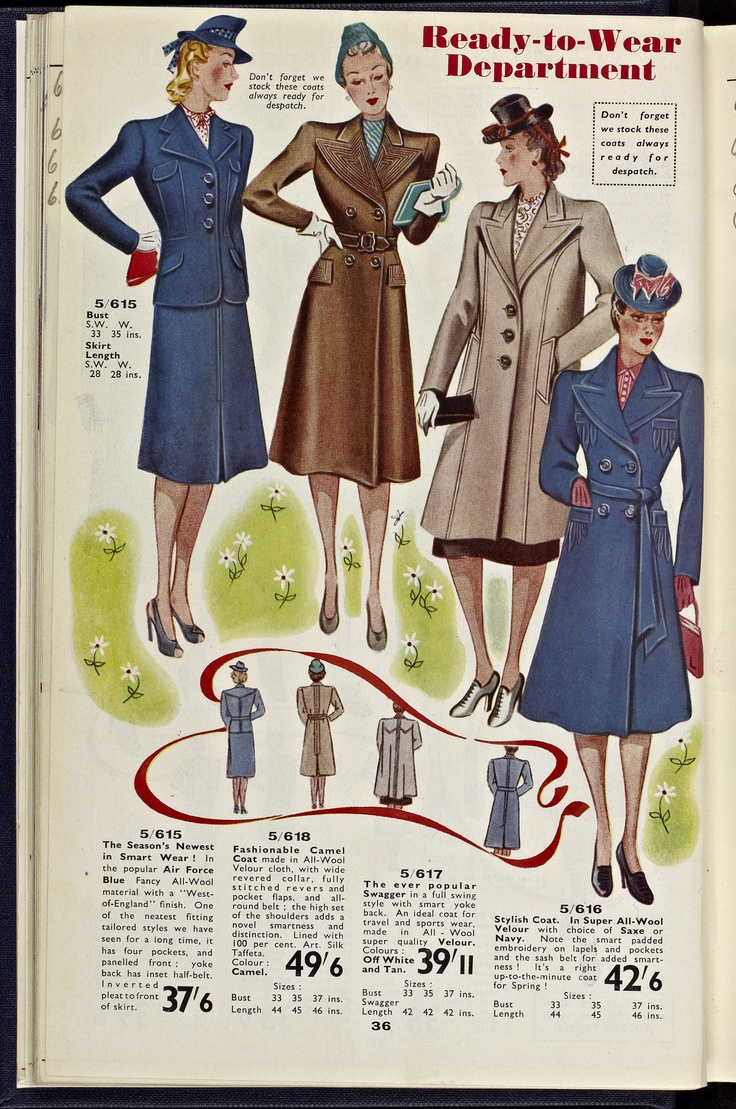 Vintage clothes fashion ads of the 1940s page 22 - 1940 World Of Kays