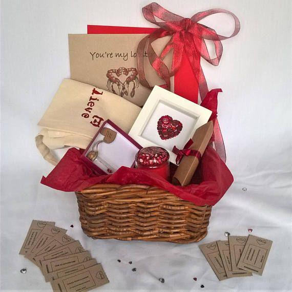 Personalised Valentines hamper for her  romantic hamper love