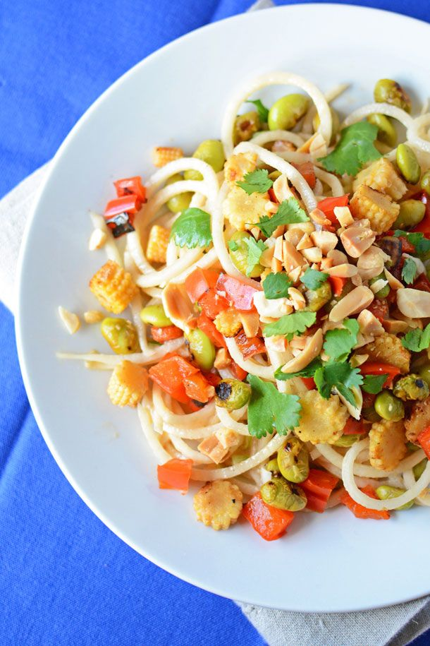 Peanut and Radish Noodle Salad