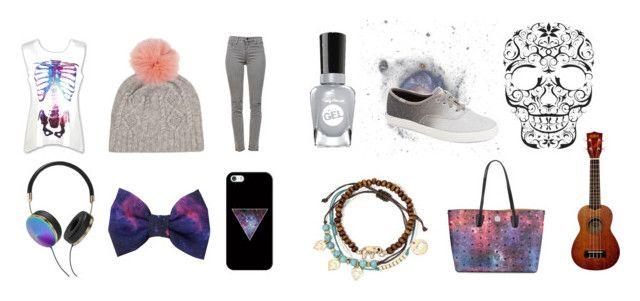 """Galaxies and Grey"" by whippet-on-helium on Polyvore featuring J Brand, IDA, Decree, Keds, Casetify, MCM, Frends and Sally Hansen"