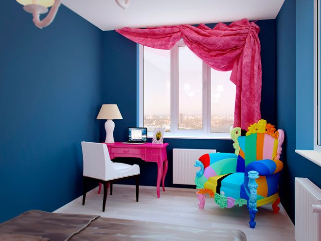 Интерьер спальни - Дизайн интерьера квартиры в стиле Поп-арт Энди Уорхола