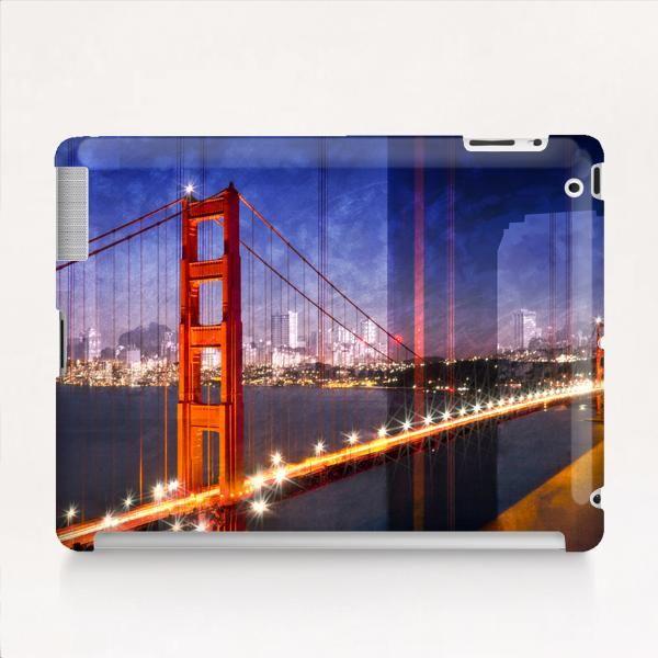 City Art Golden Gate Bridge Composing Tablet Case by Melanie Viola