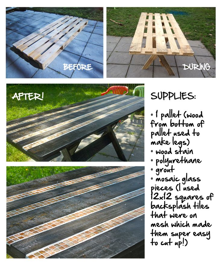 Oh wow! I can modify this, making use of our super long pallet. Voila - farmhouse table for parties!