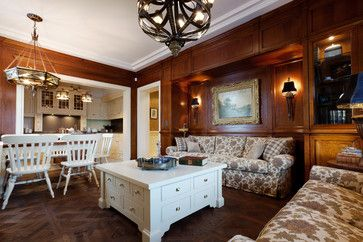 Dark Stained Wood Paneling Design Ideas, Pictures, Remodel and Decor