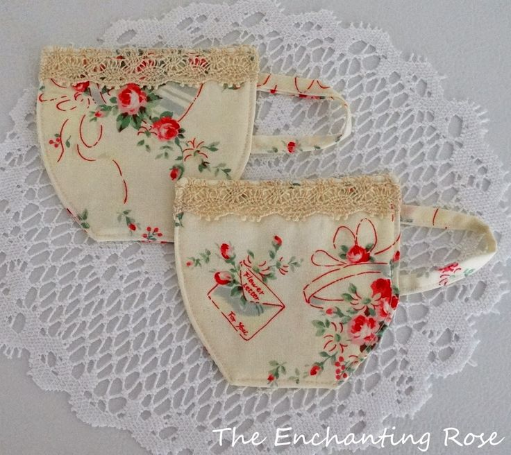 The Enchanting Rose: Tea Cup Coasters - Sewing Project