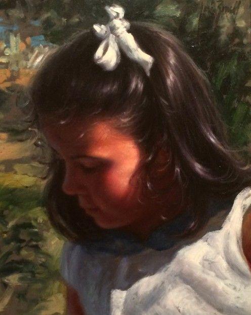 Jose Borrell_Innocence II_Oils_10x8.25   Contemporary Art