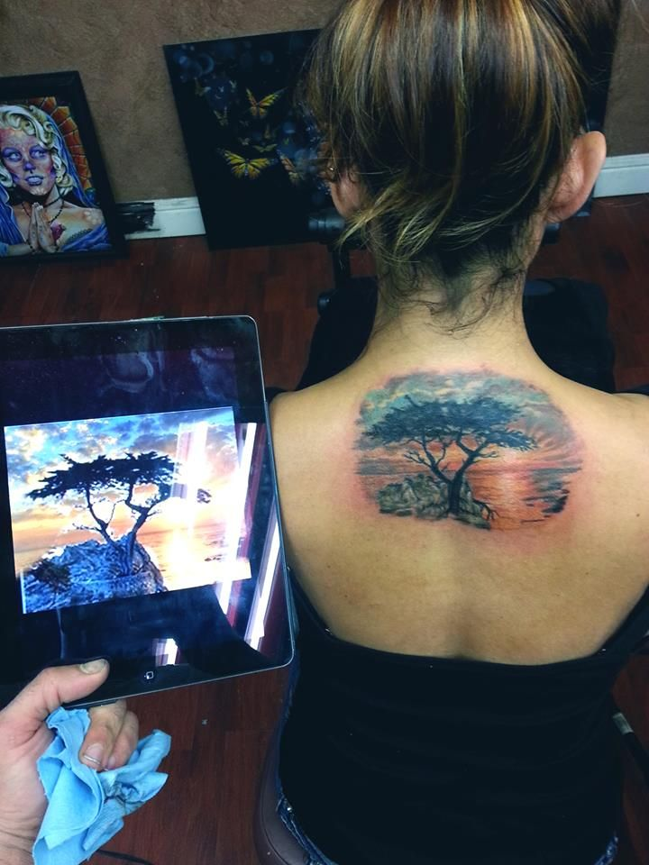 I want a cypress tree tattoo in memory of my time in ...