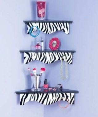 Sets of 3 Wooden Zebra Corner Shelves Home Decor:Amazon:Home & Kitchen