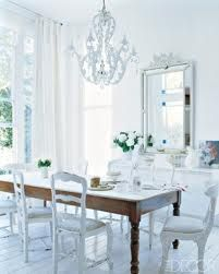 French ProvincialDining Rooms, French Provincial, White Spaces, Elle Decor, Diningroom, Rustic Chic, White Bedrooms, White Living Room, White Room