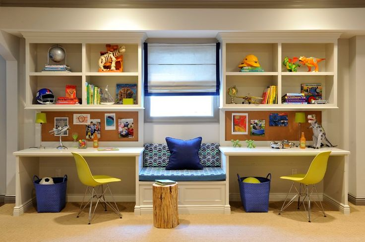 The new trend of kid's study room design comes with exciting mixes of patterns, which are perfect for creating the ambience for study and learning. The designs vary with the taste and preference of the children.