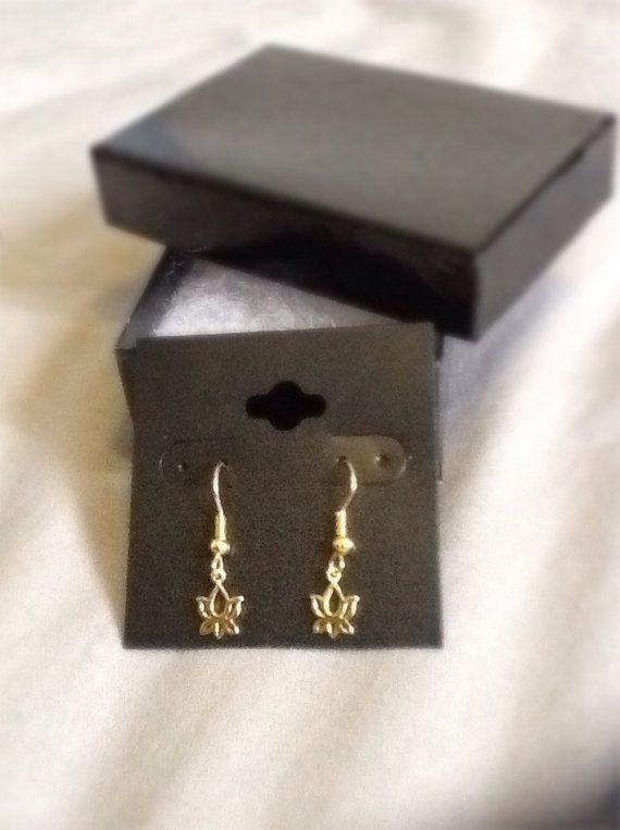 Gold Plated Sterling Silver Lotus Flower Earrings by ByYoursTrulee, $10.00