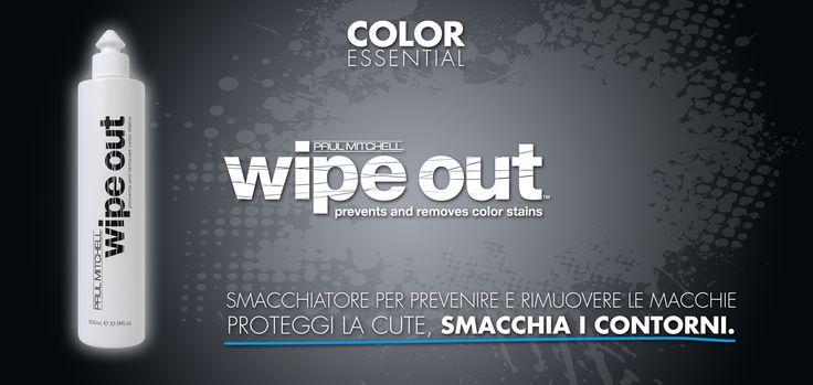 WIPE OUT: previene e rimuove i residui di colore!