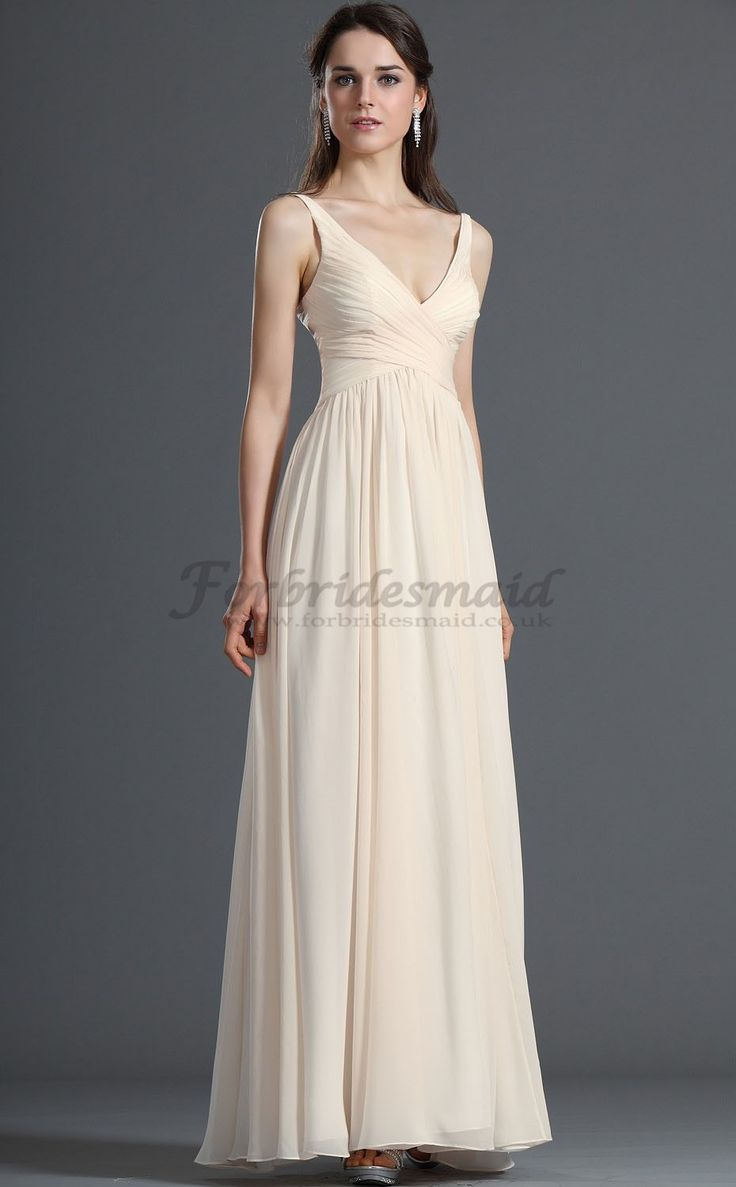 165 best bridesmaid dresses images on pinterest tulle bridesmaid vogue champagne a lineprincess v neck floor length chiffon bridesmaid dresses ombrellifo Choice Image