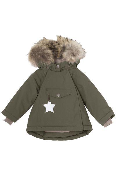 Grønn Mini A Ture Wang Fur Vinterjakke