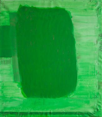 "Saatchi Art Artist Maia S Oprea; Painting, ""GREEN"" #art, #painting This work is part of an ongoing series of paintings realised by painting on top of older paintings (sometimes completely uncovering them, like in ""Green"", which at some point was a portrait). It depicts the sensation of green, my personal translation from realism towards abstraction, as well as an interrogation of what light is. @saatchiart"