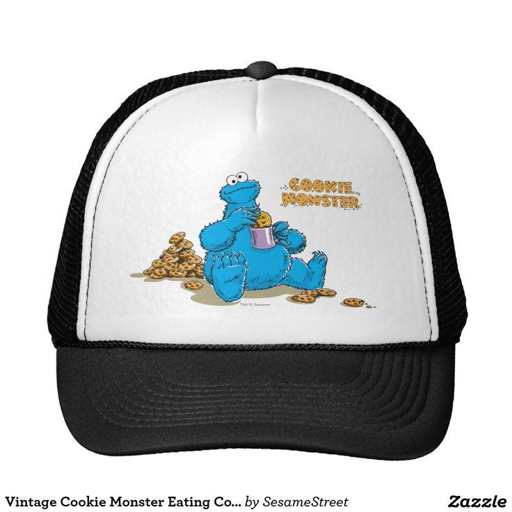 Vintage Cookie Monster Eating Cookies. Regalos, Gifts. #gorra #hat