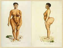 "Saartjie ""Sarah"" Baartman (Hottentot Venus)was the most famous of at least two Khoikhoi women who were exhibited as freak showattractions in 19th-century Europe under the nameHottentot Venus—""Hottentot"" as the then-current name for the Khoi people, now considered an offensive term,  and ""Venus"" in reference to the Roman goddess of love."
