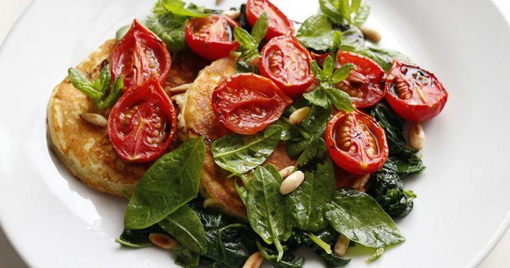 Ricotta hotcakes e spinaci di Ottolenghi
