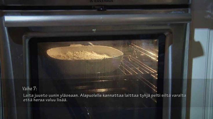 Leipäjuuston tekeminen sähköuunissa