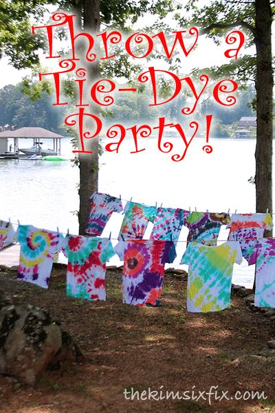 Throw A Tie-Dye Party with Tulip!  Perfect for kids and adults and it is always fun to see the differences between everyone's creations!  #tiedyeyoursummer #tdys