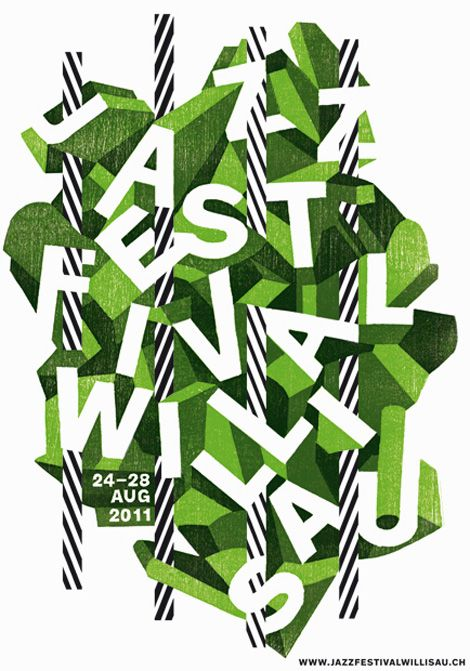 Jazz Festival / poster design by Annik Troxler. via Grain Edit #poster #graphic_design