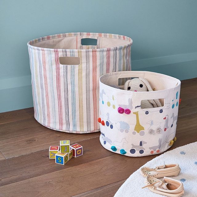 Our Durable Rainbow Jacks Cotton Canvas Storage Collection That Will Hold Everything From Your Little One S Toys B Canvas Storage Family Organizer Toy Storage