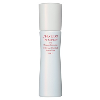 Favorite face lotion ever. Shiseido THE SKINCARE Day Moisture Protection SPF 15  DESCRIPTION: A daytime moisturizer specially formulated to provide optimal hydration and balance in skin while protecting against UVB rays and the damaging effects of other environmental factors.For normal and combination skin.