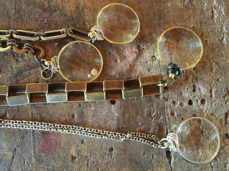Details of Monoclò #necklace on the table of Monica Trevisi lab - jewels, jewelry, handmade, design jewels, lenses