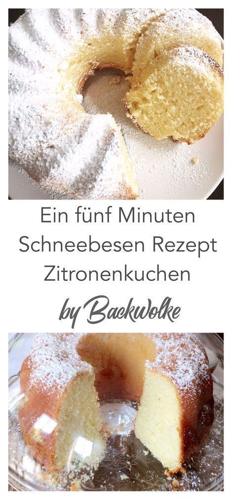 Ein fünf Minuten Schneebesen Rezept - Zitronenkuchen