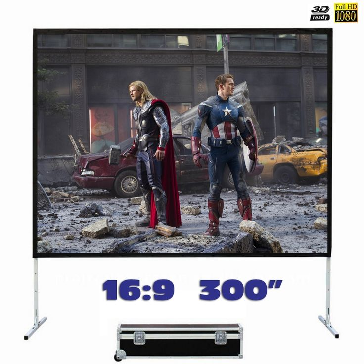 2131.42$  Watch now - http://alimpj.worldwells.pw/go.php?t=32712674144 - Fast Fold Projector Screen 300 inches 16:9 Quick Folding Front Projection for Outdoor Large Concerts, Exhibitions, Cinema 2131.42$