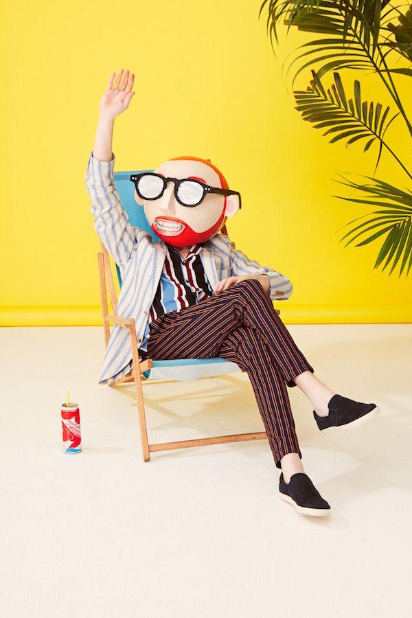 #Geek #sunglasses #yellow #stripes #trends #menswear