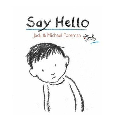A spare, poignant picture book reminding us that when someone looks lonely and in need of a friend, one little word can help.A lone dog c...
