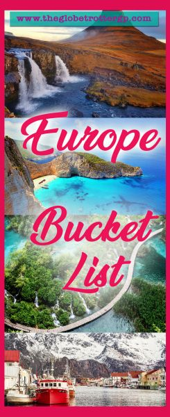 The ultimate Europe bucket list. Top places to visit in Europe that inspire wanderlust! Ideas for your backpacking trip to Europe. Europe has so much to offer - history, adventure, cities, beautiful landscapes… Here are 25 reasons to travel to Europe for your next vacation! #europe #europebucketlist