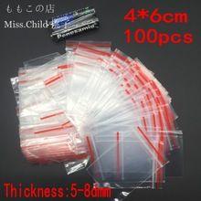 200 pçs/lote 4*6 cm PE Saco De Plástico Transparente Sacos de Embalagem de Presente Para Anéis Brincos Jóias de Armazenamento Pequenos Bens Saco Ziplock(China (Mainland))