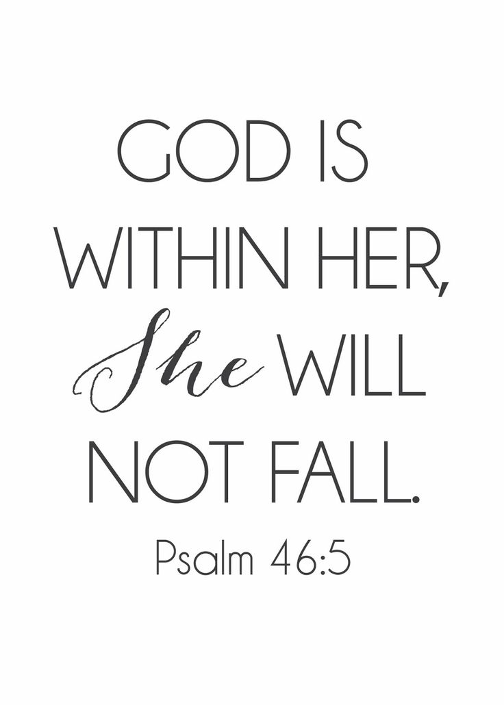psalm 46 5 printable - Google Search