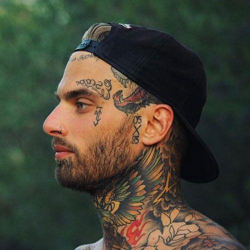 Best Face Tattoos For Men Best Face Tattoos Cool Face Tattoo