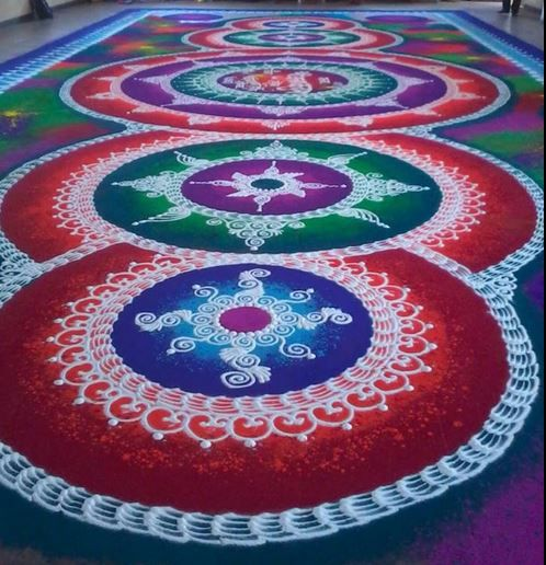 Sanskar Bharti Dussehra Rangoli Designs and Patterns