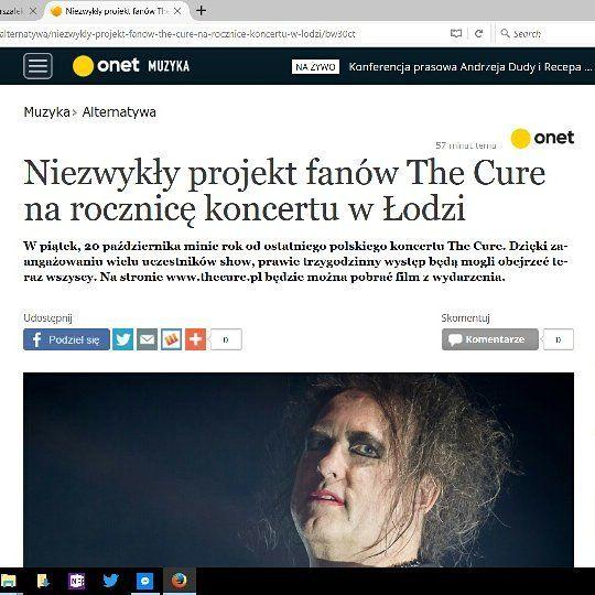 """The Cure Lodz Multicam"" article in #onet music news section. http://ift.tt/2yxjYem #TheCure #Lodz #Multicam #free #fan #film #project #thecuretour2016 #RobertSmith #rock #pop #indie #goth #alternative #postpunk #80s #90s #music #video #instamusic #łódź #atlasarena #poland #concert #koncert #nazywo #live #download @thecure @robertsmith @cgm.pl @onetmuzyka @martinmarszalek"