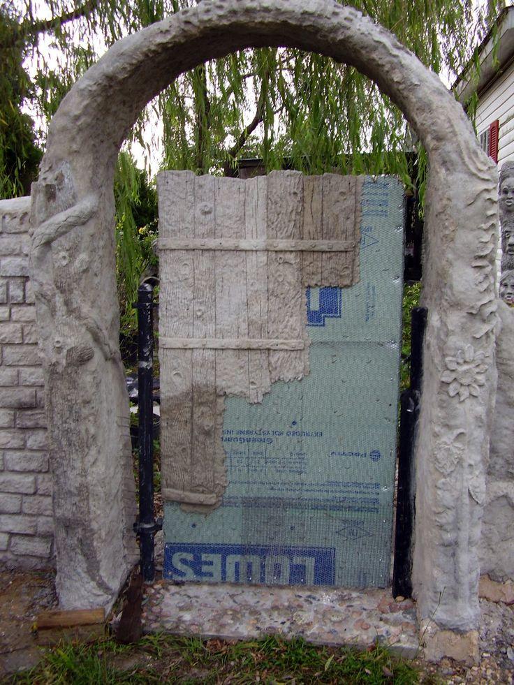Amazing diy hypertufa projects Low Rent Renaissance Vermiculite Concrete Gate